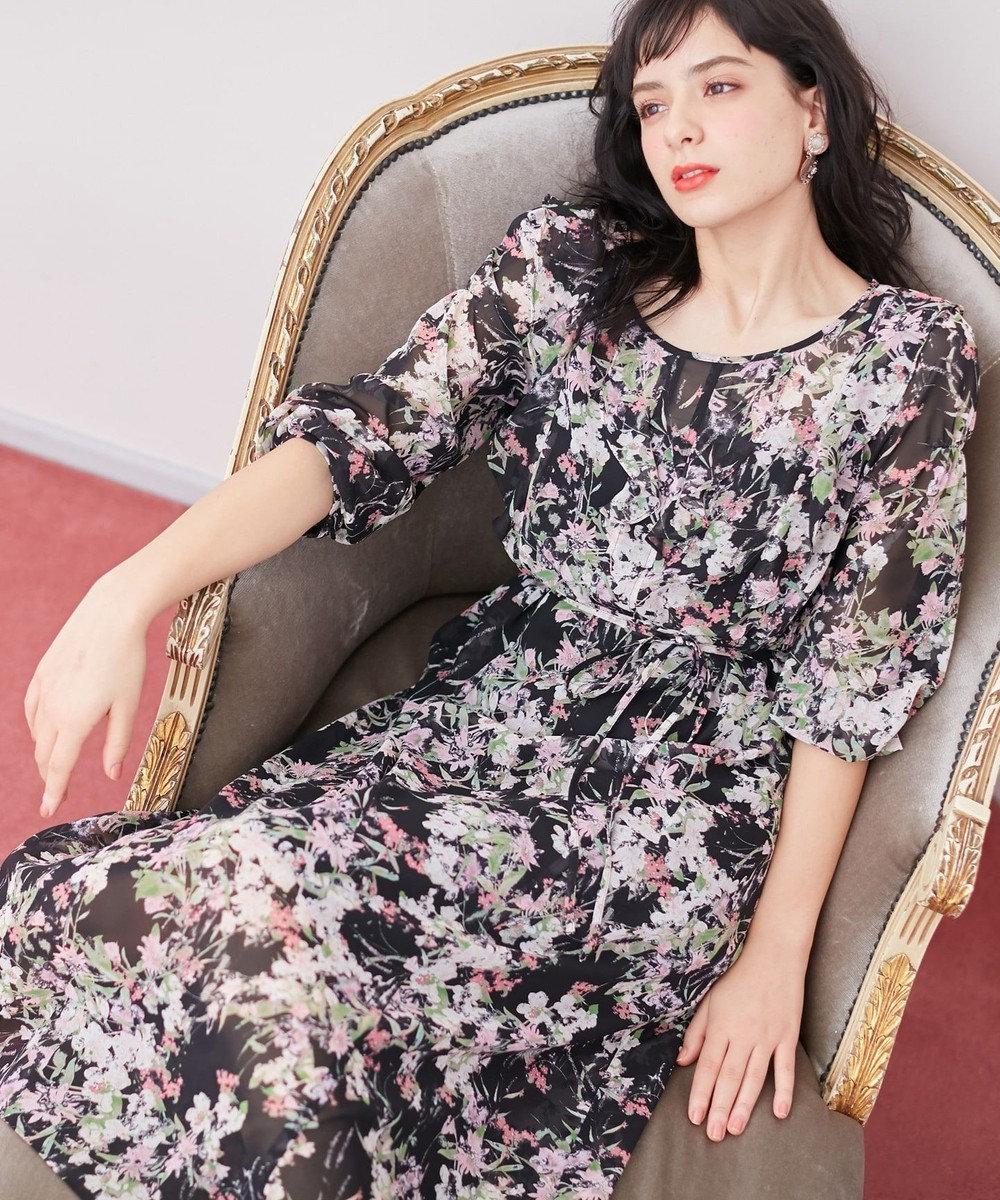 TOCCA 【TOCCA LAVENDER】Floral Chiffon ドレス ブラック系5