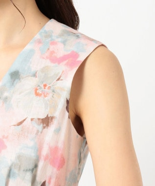 TOCCA 【TOCCA LAVENDER】Tiedye Print Linen ドレス ピンク系5