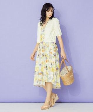 TOCCA 【TOCCA LAVENDER】Tiedye Print Linen ドレス イエロー系5