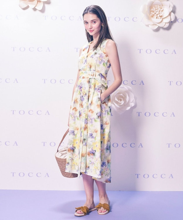 TOCCA 【TOCCA LAVENDER】Tiedye Print Linen ドレス
