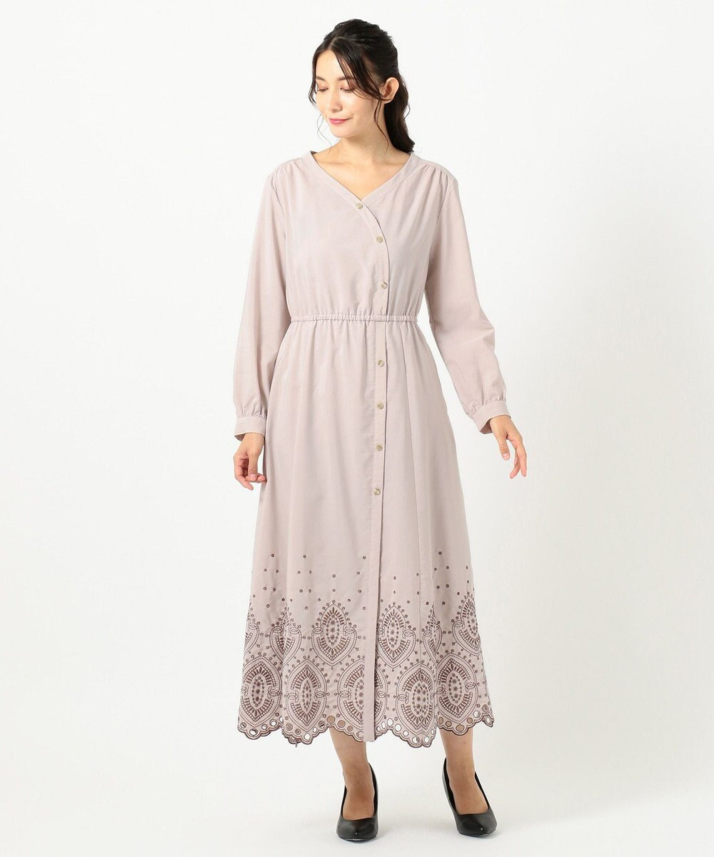 TOCCA 【TOCCA LAVENDER】Ethical Embroidered Shirt Dress ドレス ローズ系7