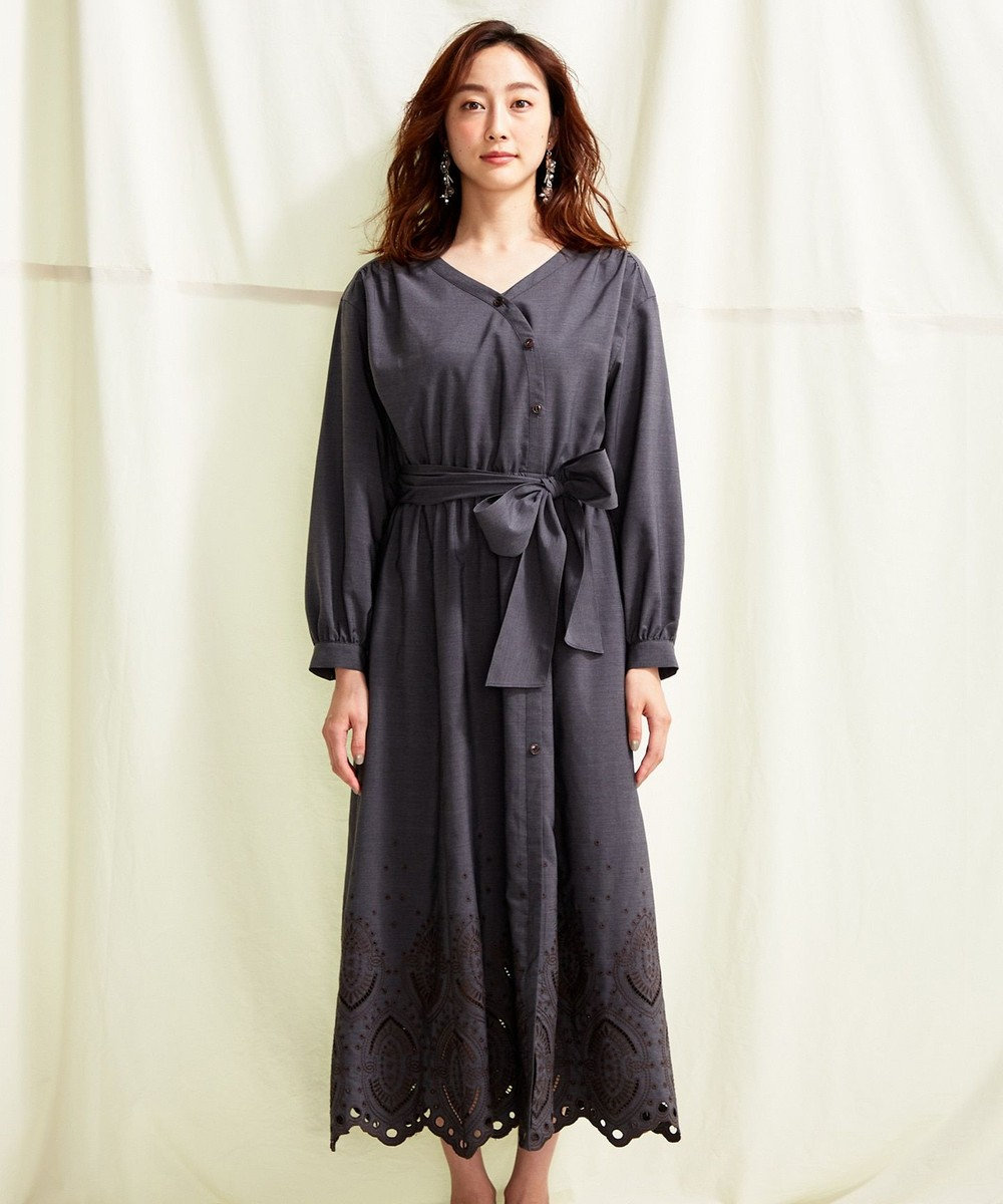 TOCCA 【TOCCA LAVENDER】Ethical Embroidered Shirt Dress ドレス ブラック系7