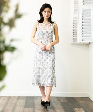 TOCCA 【TOCCA LAVENDER】Bicolored Flowar Emb Dress ドレス サックスブルー系7