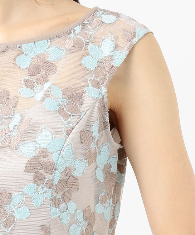 TOCCA 【TOCCA LAVENDER】Bicolored Flowar Emb Dress ドレス