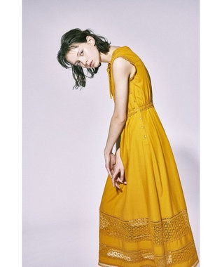 TOCCA 【Enlee.】DEWDROP CHEMICAL LACE ドレス イエロー系7