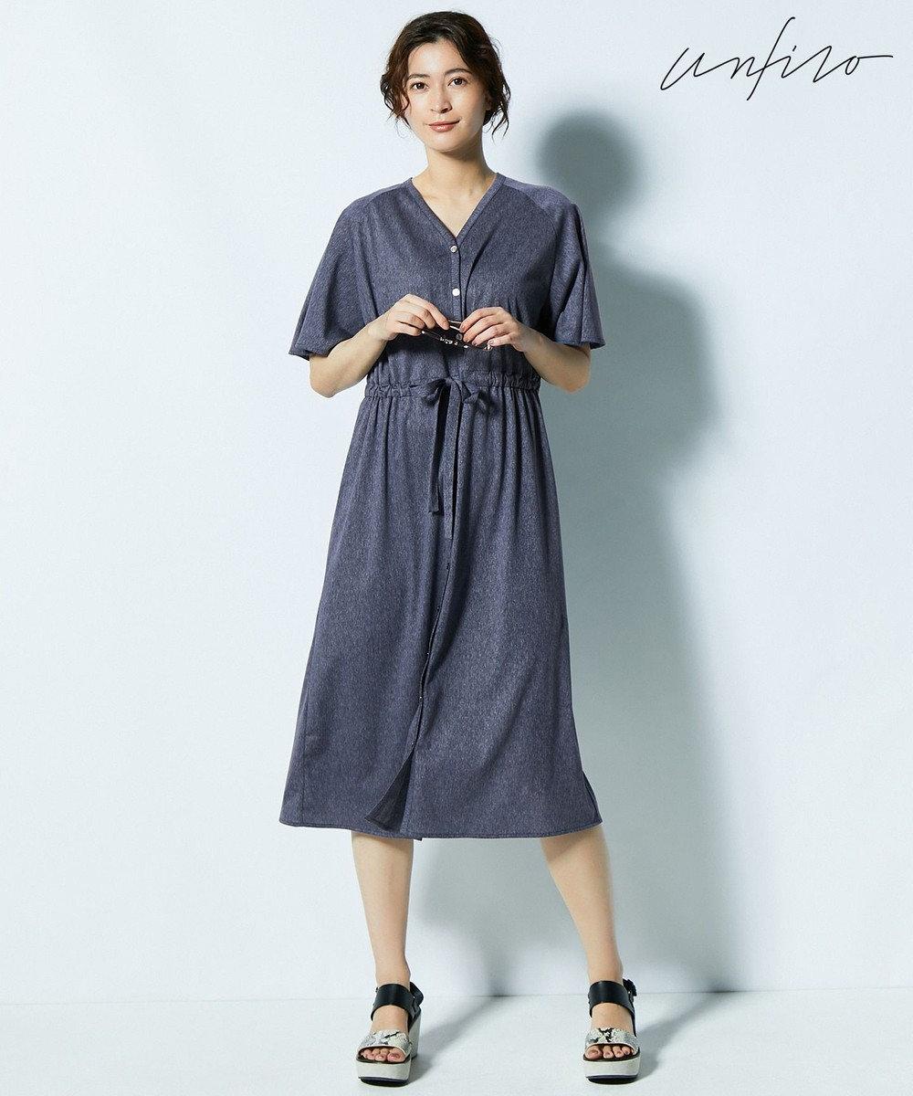 自由区 【Unfilo・2WAY】SHEER SUMMER ワンピース ダルブルー系