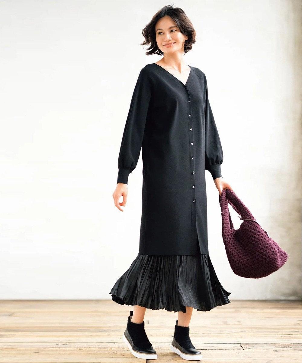 自由区 L 【UNFILO】選べるセットアップ(カーディガン)検索番号:UJ26 ブラック系スカート