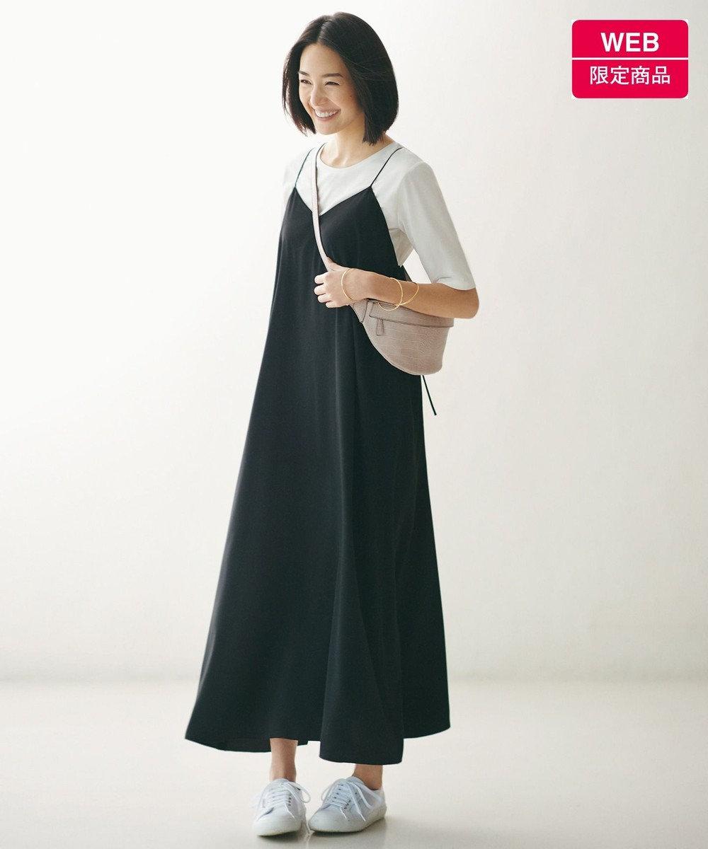 自由区 【新色追加】キャミソールドレス Tシャツセット[WEB限定](検索番号F57) ブラック系