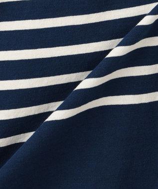 自由区 【マガジン掲載】フランス Le minor ボーダーワンピース(検索番号G26) ネイビー系2
