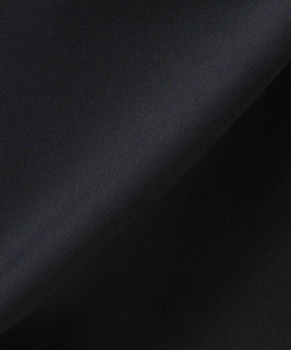 自由区 ピンタックボーダー異素材コンビ ワンピース(検索番号D46) オフホワイト×ネイビー