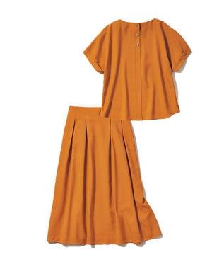 自由区 L 【待望の再入荷!】アニー カラーセットアップ(検索番号H45) オレンジ[WEB限定]
