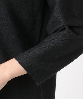 自由区 【洗える】DOUBLE CLOTH ニットワンピース ブラック