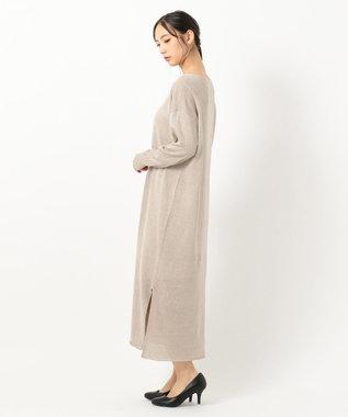 23区 【洗える】フレンチフラックス ニットワンピース ベージュ系