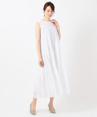 23区 【洗える】ALBINI コットンローン ワンピース ホワイト系