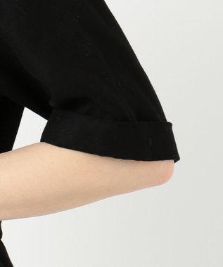 23区 S 【洗える】コットンダブルガーゼ オールインワン ブラック系