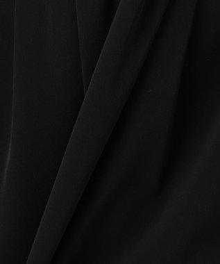 23区 L 【洗える】2WAYストレッチツイル ウエストリボン ワンピース ブラック系