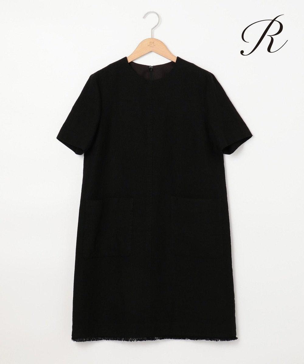 23区 【R(アール)】EMBLEM LINEN ワンピース ブラック系