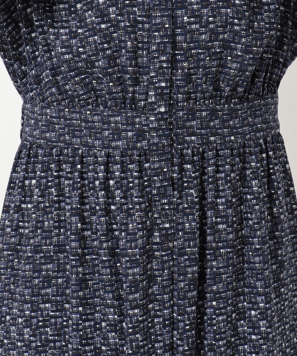 23区 L 【洗える】ツイーディープリント ドレス ネイビー系1