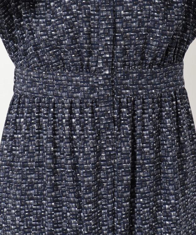 23区 L 【洗える】ツイーディープリント ドレス