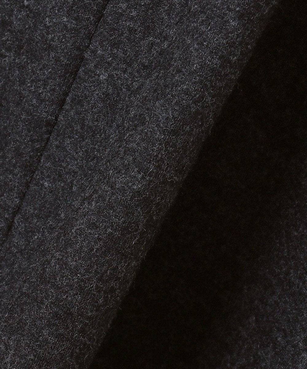 23区 L 【R(アール)】FINE WOOL JERSEY 裾ペプラム ワンピース グレー系