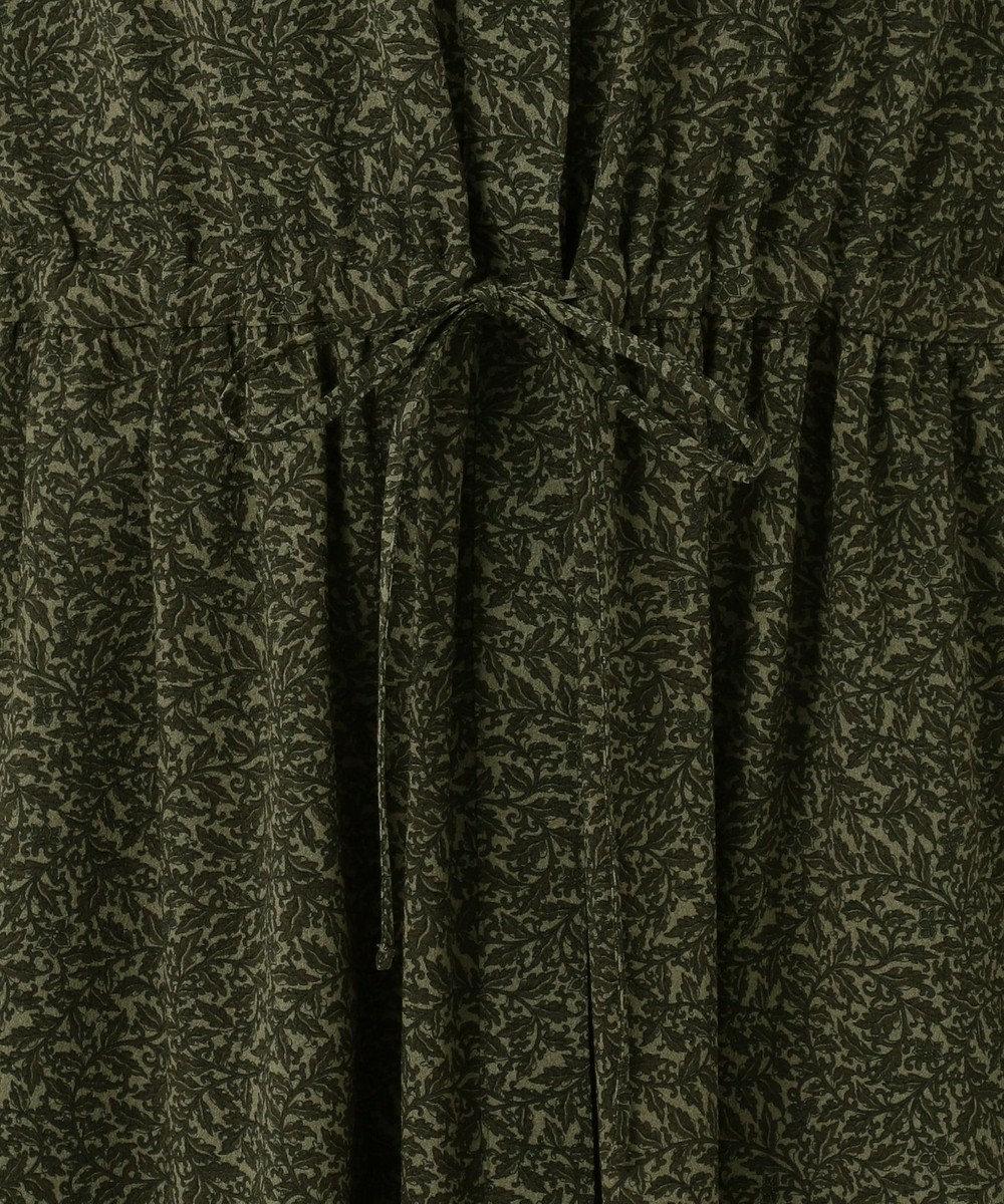 23区 L 【洗える】LIBERTY ヴィンテージプリントワンピース ダークグリーン系1