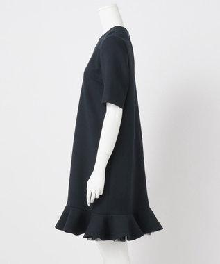 23区 S 【R(アール)】WOOL DOUBLE CLOTH ワンピース(検索番号R35) ネイビー系