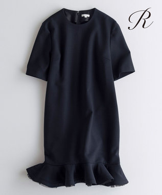 23区 【R(アール)】WOOL DOUBLE CLOTH ワンピース(検索番号R35) ブラック系