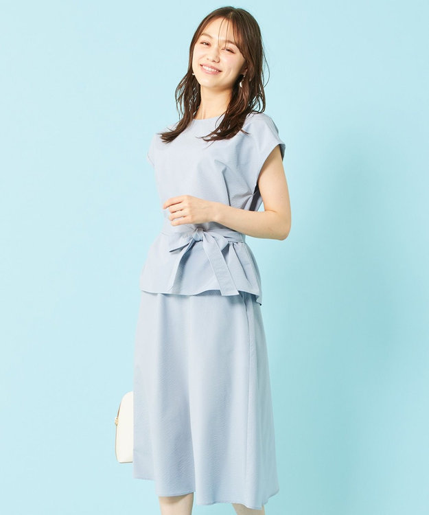 any SiS L 【美人百花9月号掲載】2SET ミニストライプセットアップ ワンピース