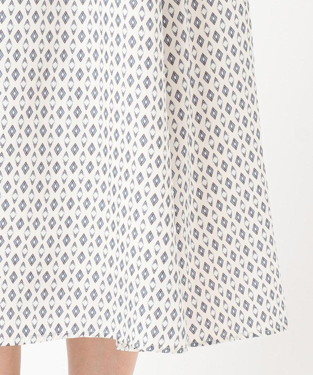 any SiS S 【洗える】幾何小紋プリント ワンピース アイボリーベース