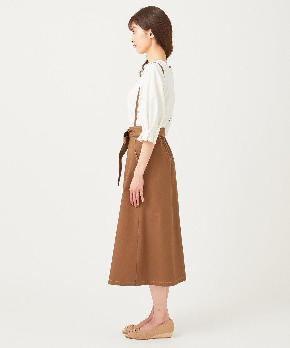 any SiS 【Ray5月号掲載】トップス×サスペンダーフレアスカート セットアップ キャメル×アイボリー