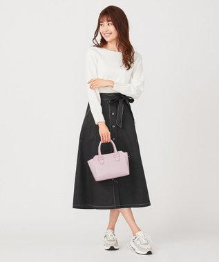 any SiS 【Ray5月号掲載】トップス×サスペンダーフレアスカート セットアップ ブラック×ボーダー