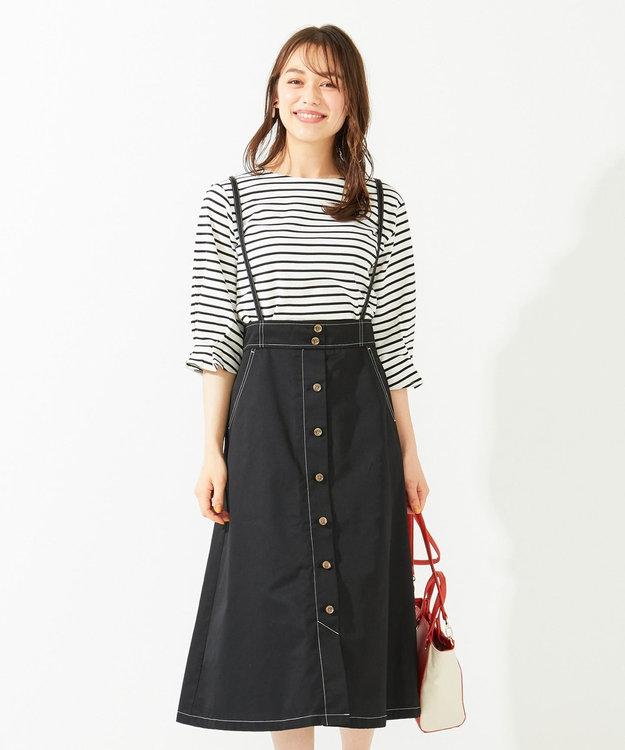 any SiS 【Ray5月号掲載】トップス×サスペンダーフレアスカート セットアップ