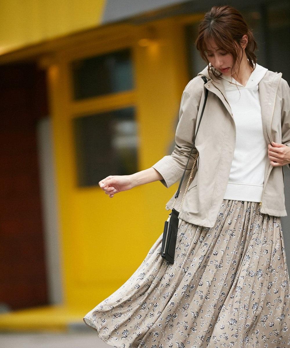 any SiS 【おうち時間に】パーカー×フラワープリントスカート ツインセット(2SET) アイボリー×ベージュ