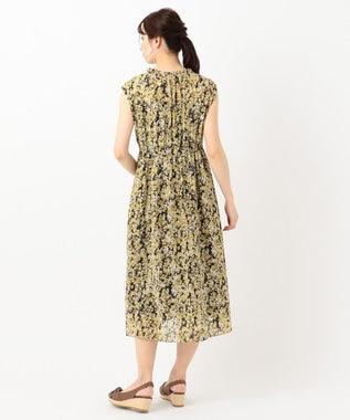 any SiS 【洗える】フルールプリント ワンピース マスタードフラワー