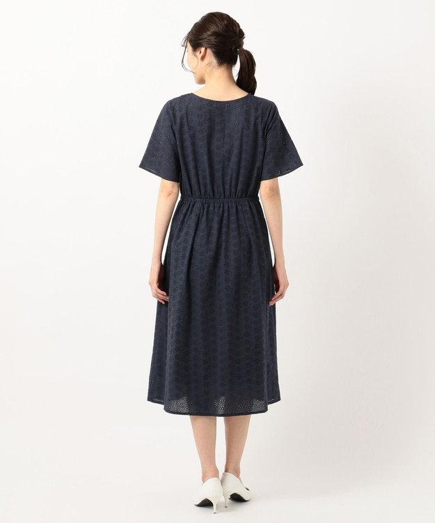 any SiS 【美人百花8月号掲載】洗える フラワーエンブロイダリー ワンピース