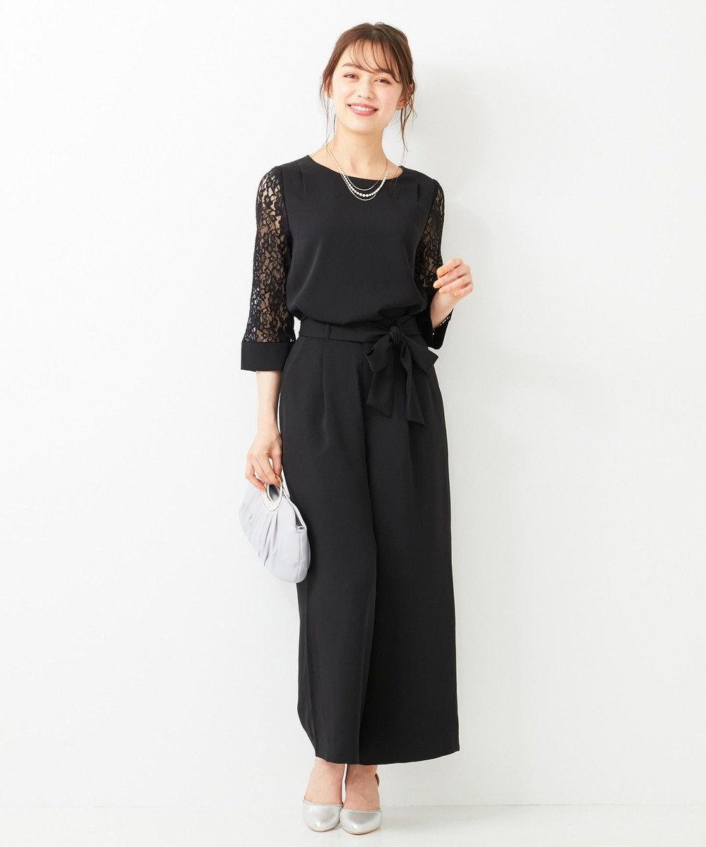 any SiS L 【2SET】レーシーワイドパンツ セットアップ ブラック