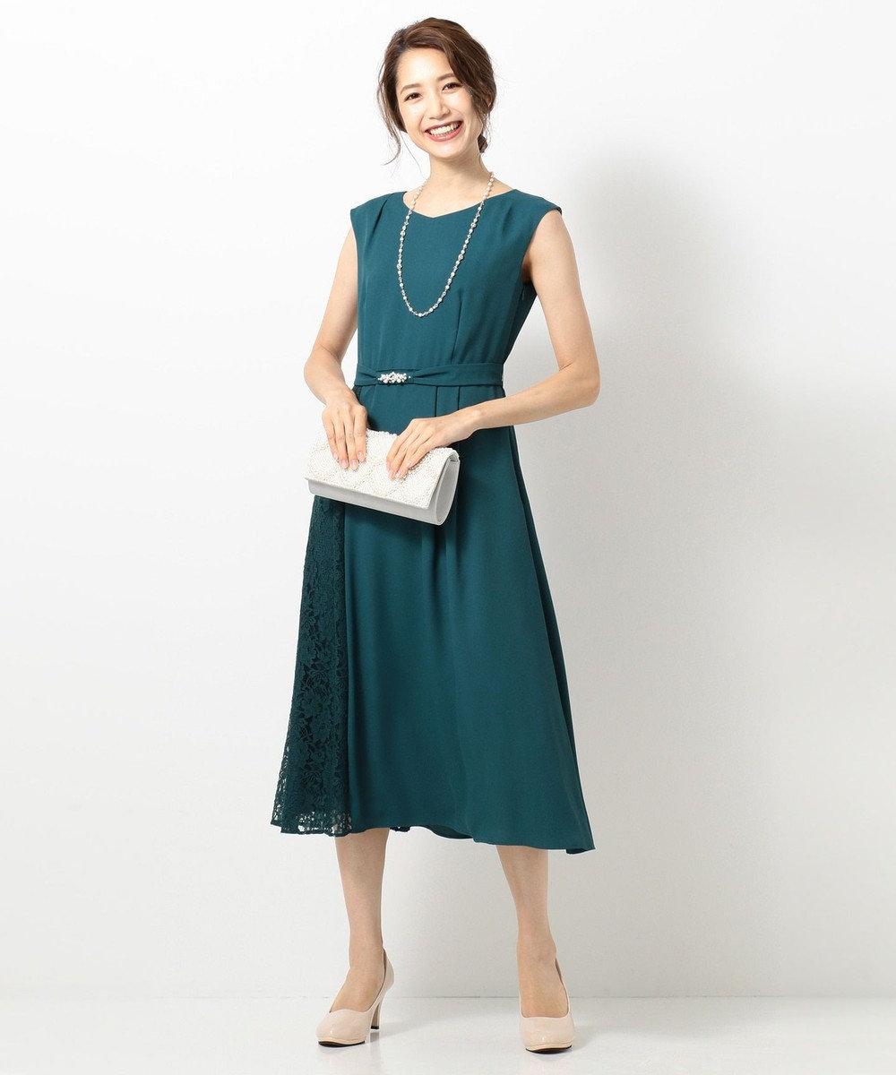 any SiS L 【2WAY】サイドレースジュエル ドレス ブルーグリーン