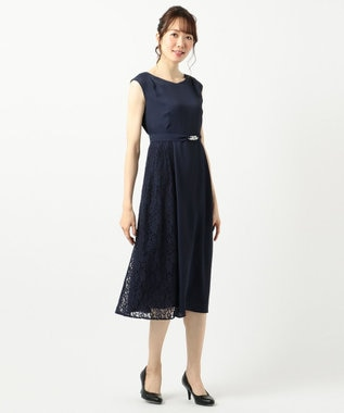 any SiS L 【2WAY】サイドレースジュエル ドレス ネイビー