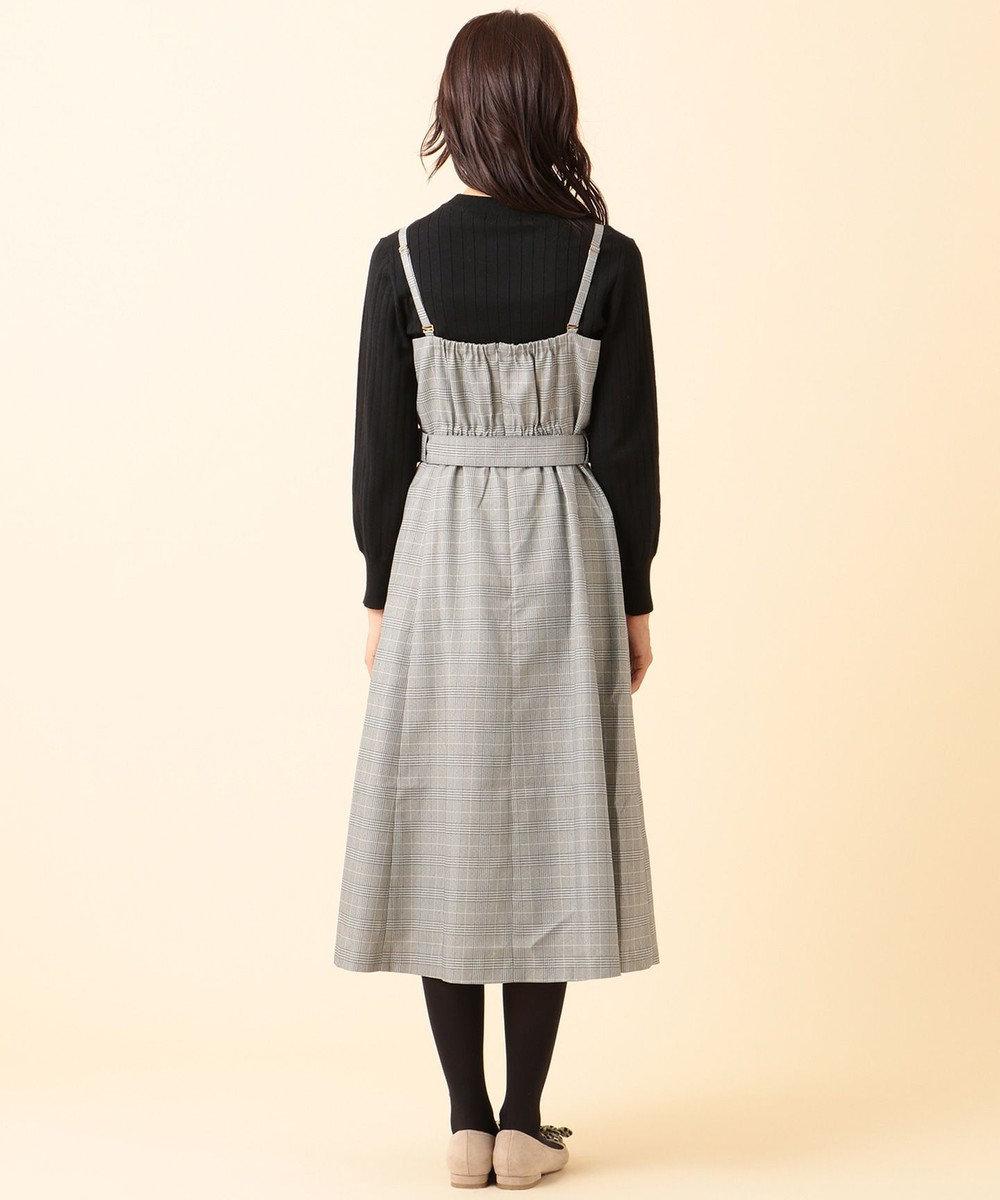 any SiS 【冬仕様になってリニューアル!】サイドプリーツ ジャンドレ (2SET) モノトーン系×ブラックインナー
