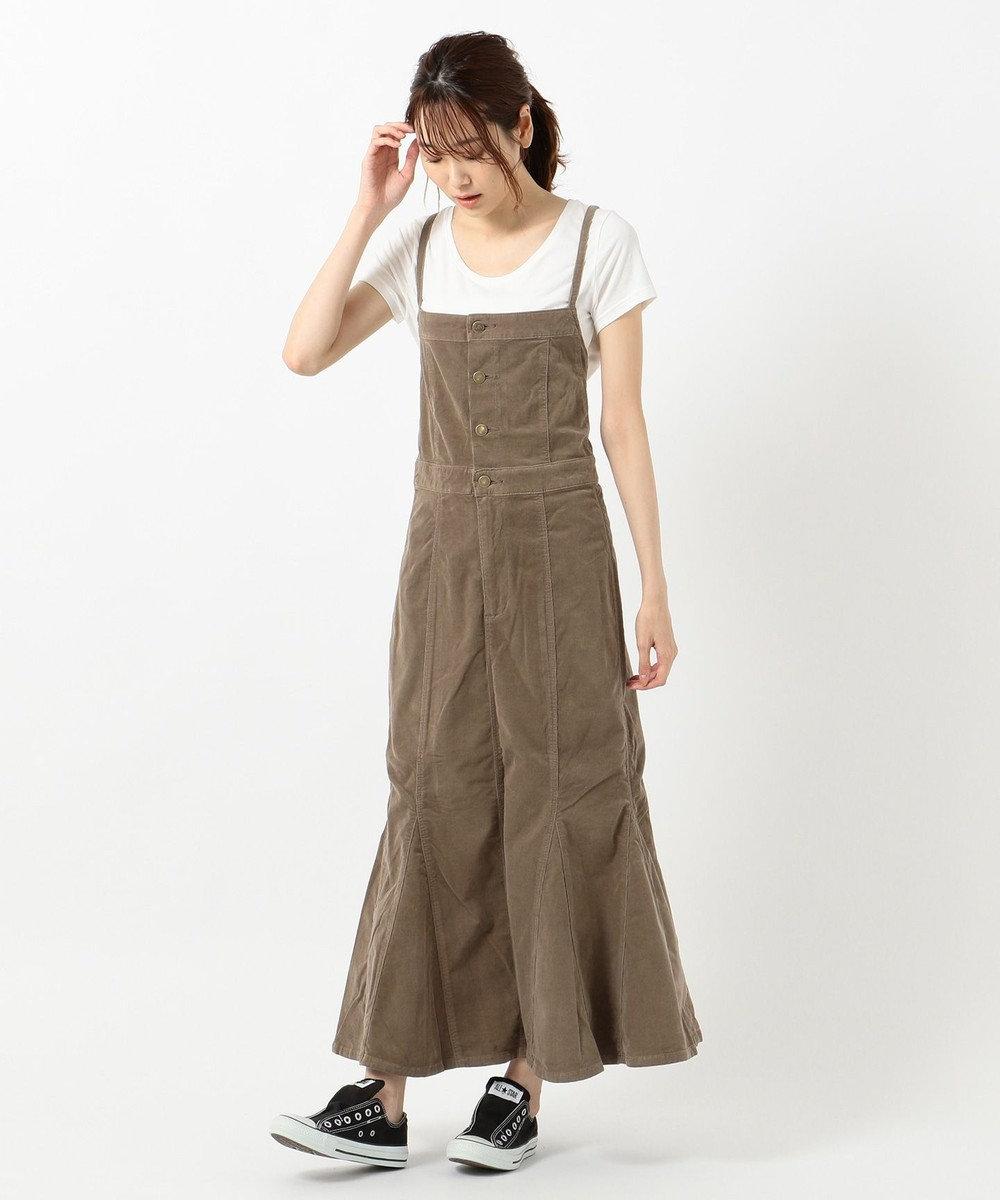any SiS 【L'aube】Leeサロペット スカート ブラウン系