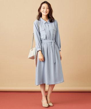 any SiS S 【2SET】シャツ ワンピース スモーキーブルー
