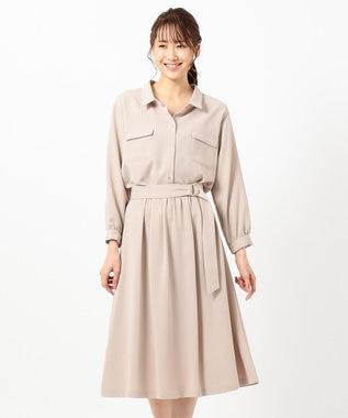 any SiS S 【2SET】シャツ ワンピース グレージュ