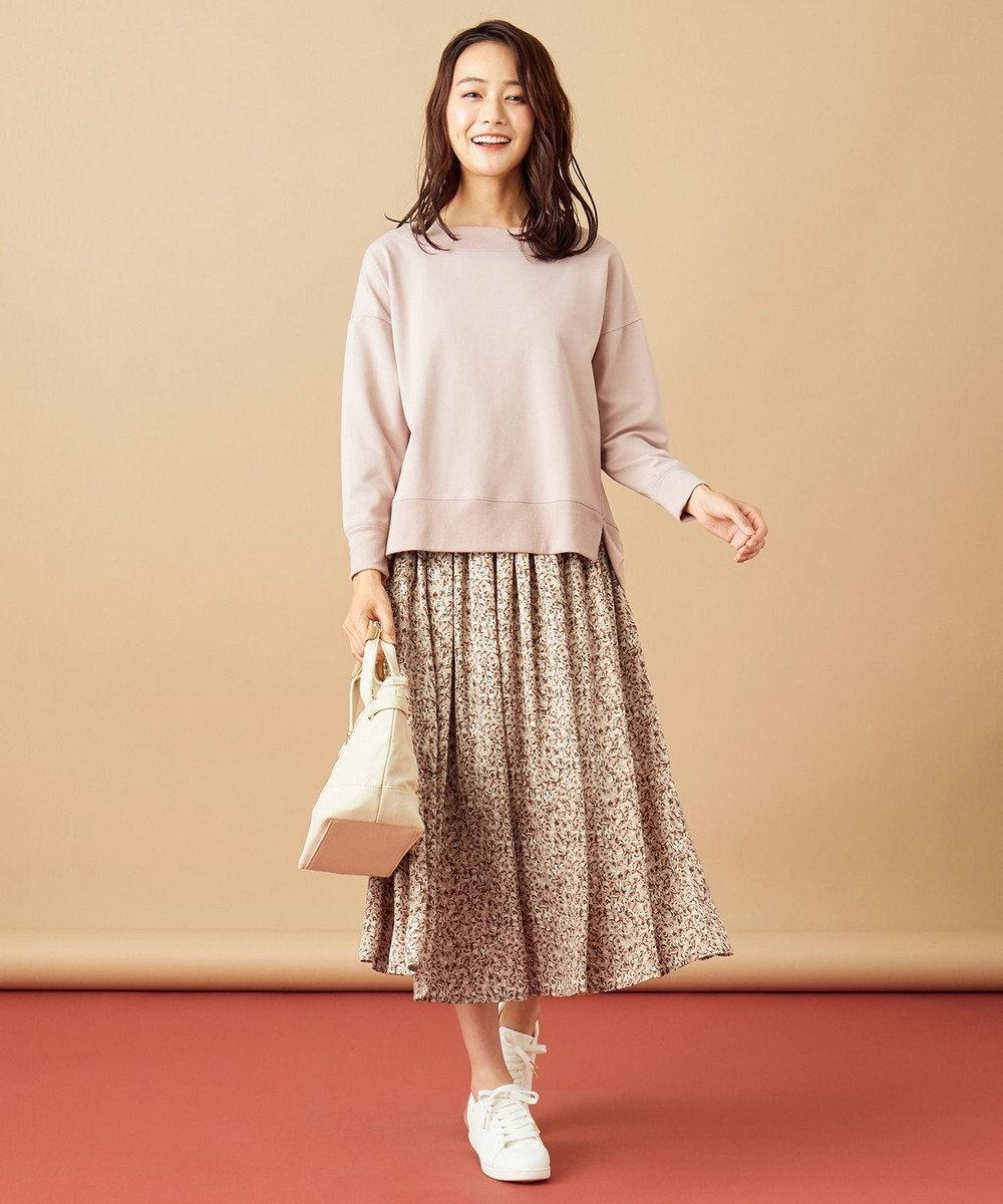 any SiS S 【2SET】アートフラワースカート セットアップ ピンク