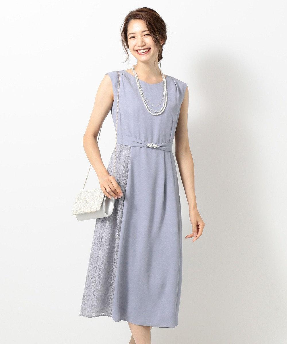 any SiS 【2WAY】サイドレースジュエル ドレス スカイブルー系