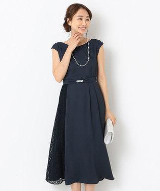 any SiS 【2WAY】サイドレースジュエル ドレス ネイビー系