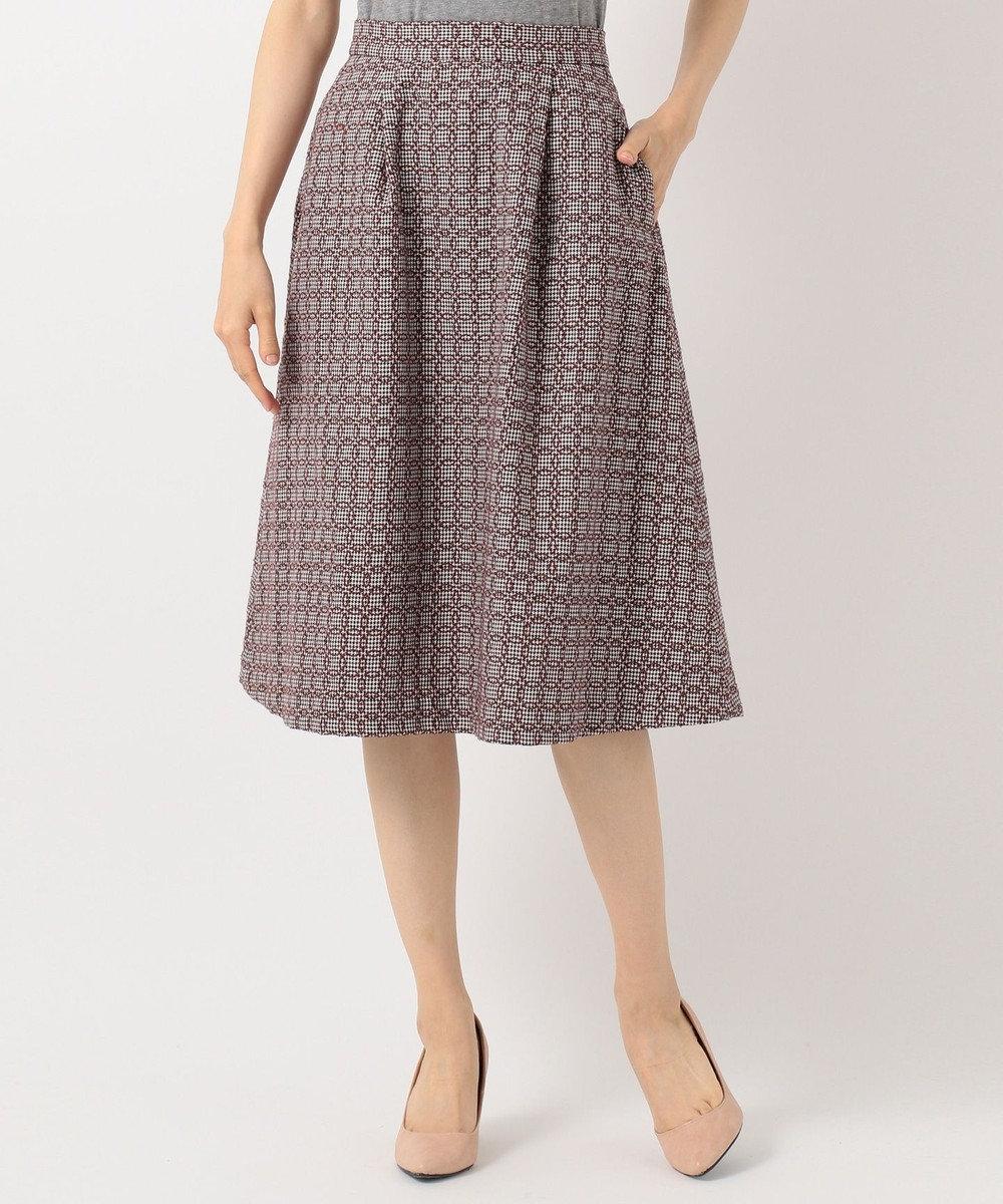 any SiS エンブロイダリースカート セットアップ ネイビー×ボルドー系