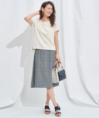 any SiS エンブロイダリースカート セットアップ ホワイト×ブルーグリーン系