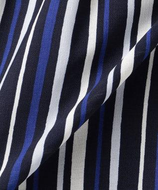any SiS 【洗える】マルチストライプコンビ ワンピース ネイビー系1