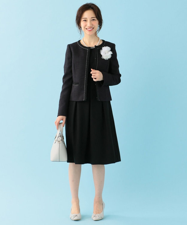 any SiS 【洗える】クラシカルバックサテン ワンピース