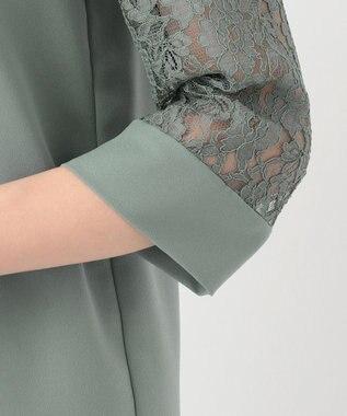 any SiS L 【2SET・洗える】レーシーワイドパンツ セットアップ ダスティミント